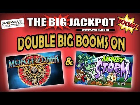 "DOUBLE BIG JACKPOTS on ""Montezuma"" & ""Money Storm"""