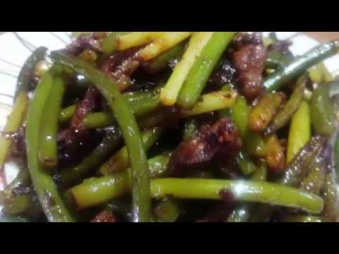 """Корейский салат """"Чесночные стрелки с мясом"""""""