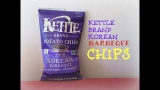 Kettle Brand Korean Barbeque Potato Chips Taste Test | Kylie Eats