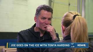 Joe goes on teh ice with Tonya Harding