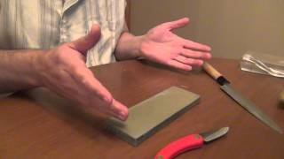 Shapton Pro 220 : Japanese sharpening stone - a word about pressures, areas and steel types