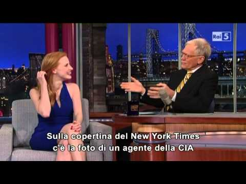 Jessica Chastain @ David Letterman Show 08/01/13 SUB ITA