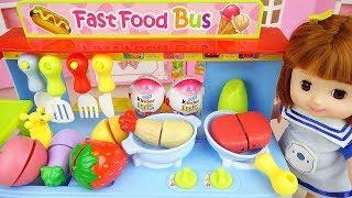 Baby doll kitchen food cooking and camping car play Doli story