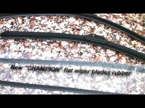 HOW TO CHANGE WIPER blades rubber?