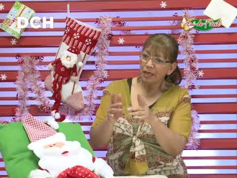 Aplicación de Santa para cojín, funda de sillas, etc