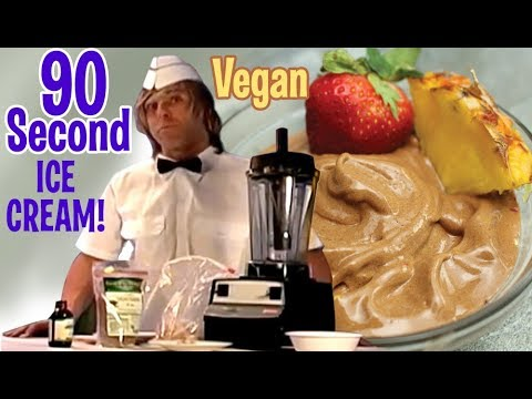 make Raw Chocolate Vegan Ice Cream in 90 seconds !