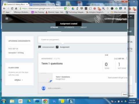 Google Classroom Tutorials: #8 Assignments