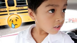 EMOTIONAL FIRST DAY OF SCHOOL! | Mel and Shane