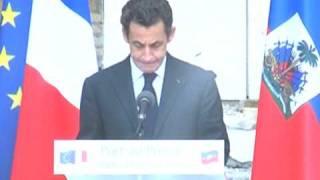 Sarkozy Aux Haitiens De Definir Un Projet National