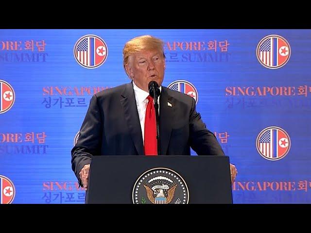 Trump speaks after historic summit with Kim Jong Un
