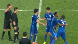 Ramires tries to attack referee after red card