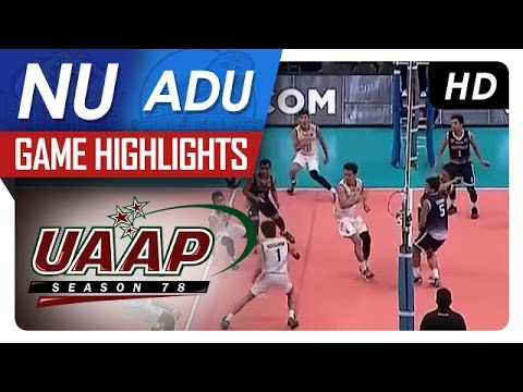 UAAP 78 MV: NU vs AdU Game Highlights