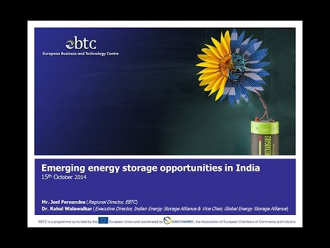 EBTC Webinar on 'Emerging energy storage opportunities in India'