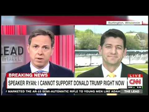 Paul Ryan: I'm not ready to support Donald Trump