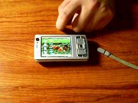 Nokia N95 with iPhone multi touch screen