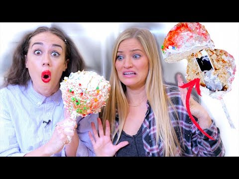 WE BAKED MY iPHONE INSIDE A HUGE CAKE POP! w/ iJustine!