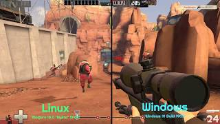 Linux vs Windows: Team Fortress 2