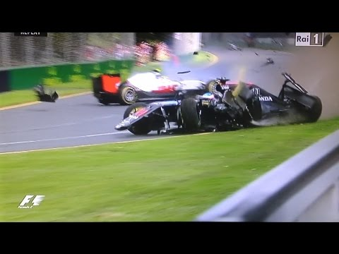 Formula 1 - Alonso incidente Albert park Melbourne 2016