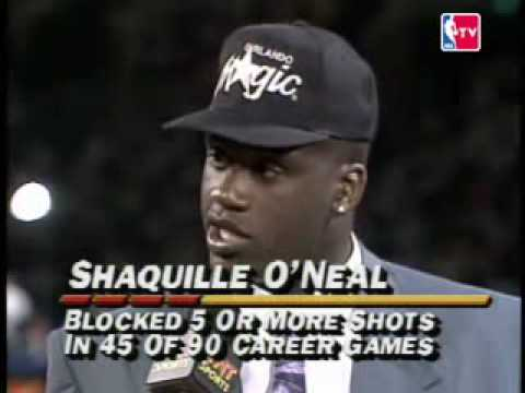 Shaquille O'Neal 1992 NBA Draft Video