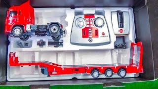 RC heavy load truck gets unboxed and loaded  for the first time!