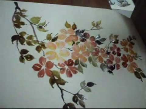 Colorful Flowers Painting Flower Painting in Ink Colour