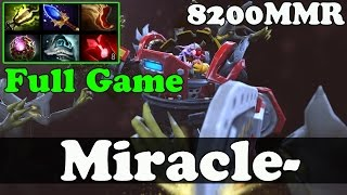 Dota 2 - Miracle- 8200 MMR Plays Timbersaw - FULL GAME - Ranked Gameplay