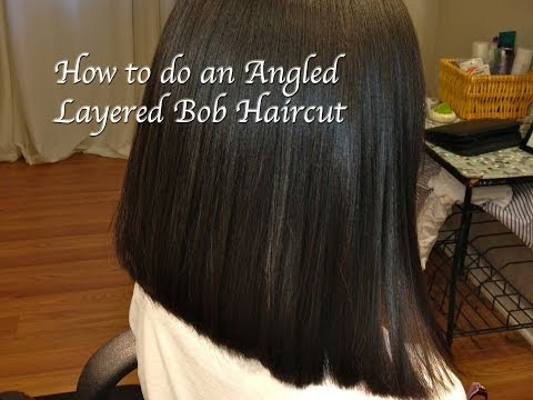Layered Angled Bob Haircut, Locks of Love, (Hair Tutorial) Long to Short, Thick, Course Hair