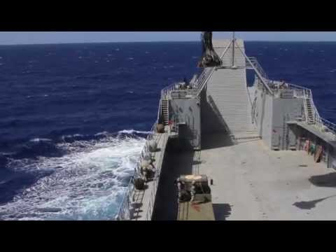 Pacific Waterborne, Air Assault, Aviation Soldiers work together during maritime operations