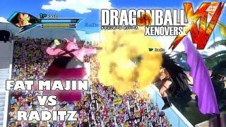 Dragon Ball Xenoverse Fat Majin vs Raditz (PS4 HD Local Multiplayer Gameplay)