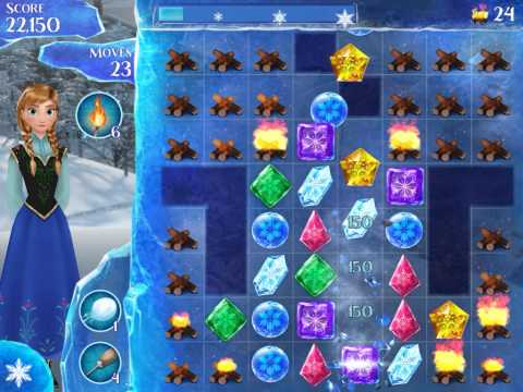 Frozen Free Fall Level 213 Live Action Play Walkthrough
