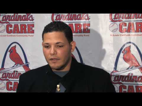 Yadier Molina at Cardinals Winter Warm-up in St. Louis