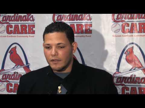 Yadier Molina at Cardinals Winter Warm-up in St. Louis