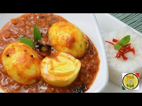 Simple Egg Curry With Pressure Cooked Onion Tomato Gravy - By Vahchef  Vahrehvah video