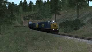 Long CSX SD80MAC Passes By - Train Simulator 2015