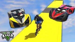 GTA V Online: BMX vs SUPER CARROS - O FINAL com MITADA!!! ÉPICO
