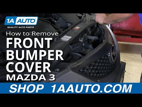 How To Install Remove Replace Front Bumper Cover Mazda 3