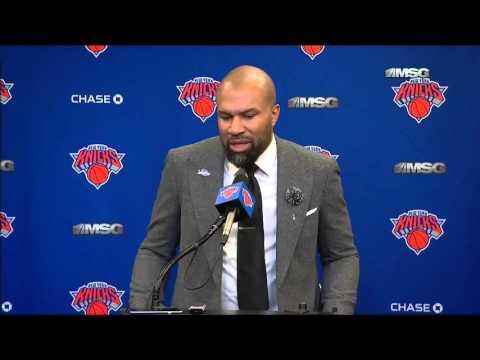 Derek FIsher Postgame Interview - Knicks vs 76ers - NBA 2015-16 Season - December 2, 2015