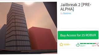 PLAYING ROBLOX JAILBREAK 2 PREALPHA