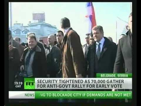 NWW World-News 05.02.2011 Anti-Govt Rally for early Vote Belgrade Serbia