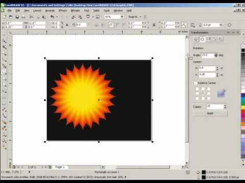 How to make a sun in Corel Draw X5 X3