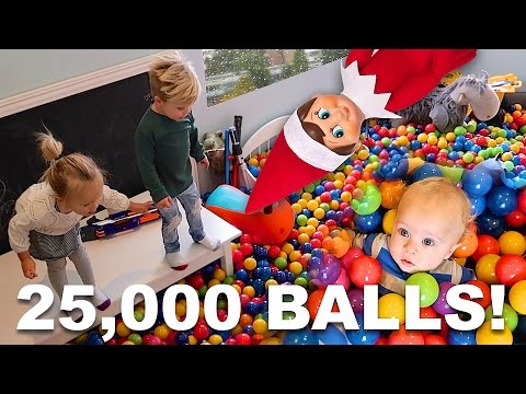 INSANE BALL PIT PRANK BY ELF ON THE SHELF!