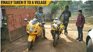 Village Ride On A Superbike