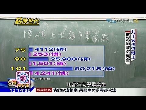 台灣-中天調查報告-20160821 薪酸世代