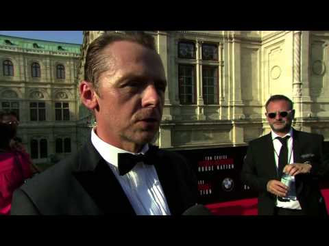 Mission: Impossible: Rogue Nation: Simon Pegg Red Carpet Movie Premiere Interview