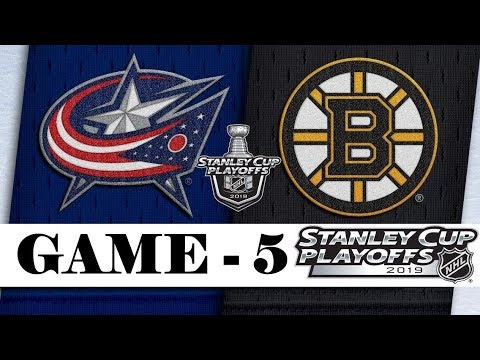 Columbus Blue Jackets Vs Boston Bruins | Second Round | Game 5 | Stanley Cup 2019 | Обзор матча