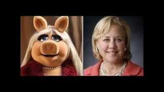 MARY LANDRIEU-Water Bloated Faced Fat Commie Cunt's Pvt Govt Jet