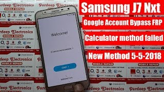 Samsung J7 Nxt 7.0 Google Account Bypass FRP Unlock New Method 5-5-2018 | Pardeep Electronics
