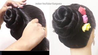 Party juda hairstyle || hair style girl || juda hairstyle || wedding hairstyle || hairstyle