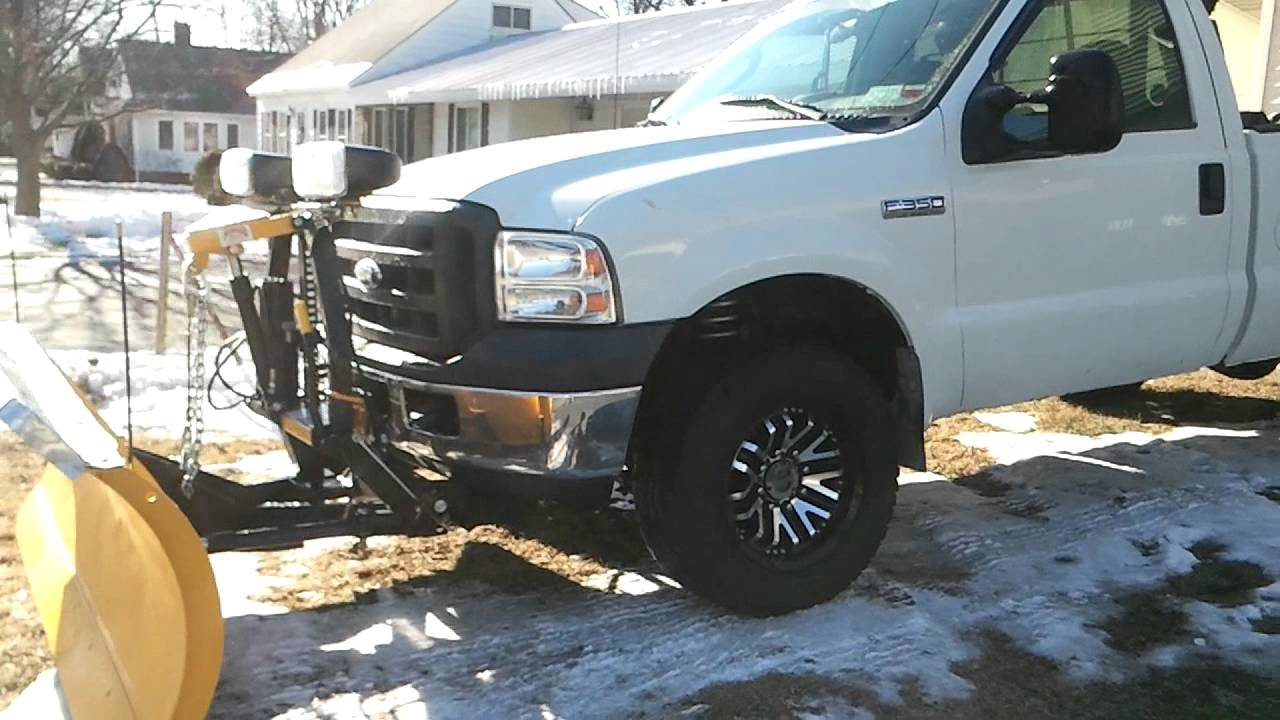 Ford f350 snow plow truck youtube