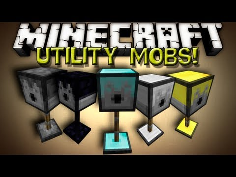 Minecraft Mods - UTILITY MOBS! TURRETS!!!